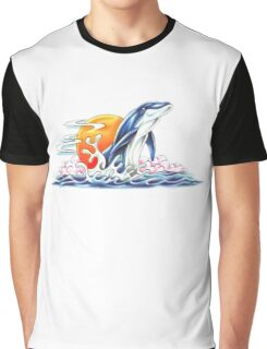 Happy Dolphin Graphic T-Shirt