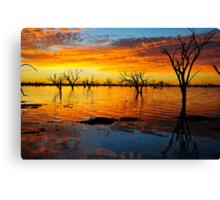 Sunrise over Lake Balaka_Easter Saturday 30-3-2013 Canvas Print