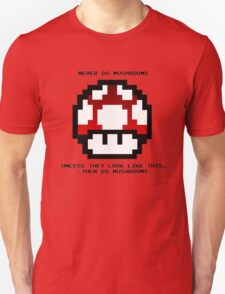 Nintendo 8-Bit Never Do Mushrooms T-Shirt