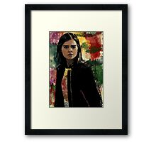 Clara Oswald The Impossible Girl Framed Print