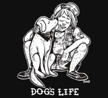Punx 'n' Pups: Dog's Life (B&W) T-Shirt