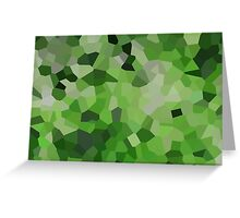 Small Green Crystals Greeting Card