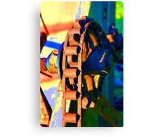 Farm Equipment Abstract Color  Canvas Print