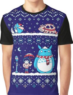Pokemon Totoro Neighbor Graphic T-Shirt