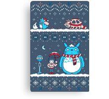 Pokemon Totoro Neighbor Canvas Print