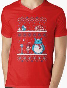 Pokemon Totoro Neighbor Mens V-Neck T-Shirt