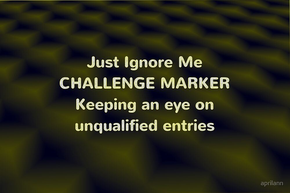 Challenge Marker by aprilann