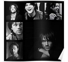 Jared Padalecki in Black and White Poster