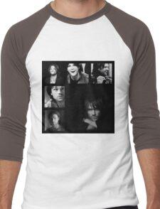 Jared Padalecki in Black and White Men's Baseball ¾ T-Shirt