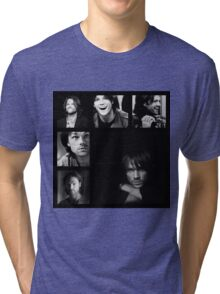 Jared Padalecki in Black and White Tri-blend T-Shirt