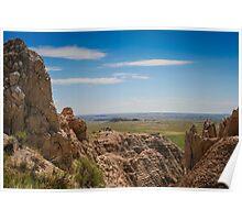 The Badlands, South Dakota Poster