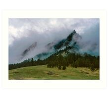 The Flatirons Cloaked In Mystery Art Print