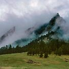 The Flatirons Cloaked In Mystery by Greg Summers
