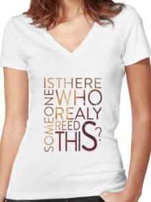 Existential question Women's Fitted V-Neck T-Shirt