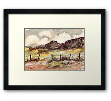 Reasons for getting over a Barbed wire fence (lol!) Framed Print