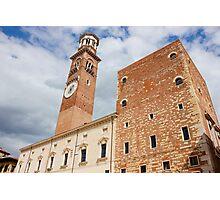 Torre dei Lamberti in Verona Photographic Print