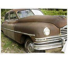 Rusty Packard Car Poster