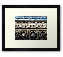 Galleria Umberto I detail Framed Print