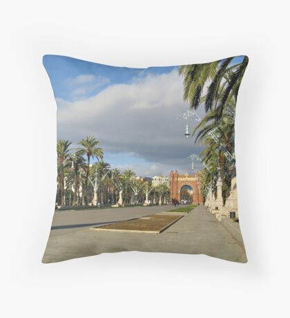 The Arc de Triomf in Barcelona Throw Pillow
