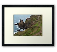 Old Tin Mine Cornwall Framed Print