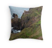 Old Tin Mine Cornwall Throw Pillow