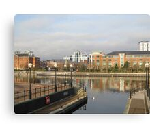 Residential buildings in Salford Quays Manchester Canvas Print