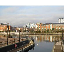 Residential buildings in Salford Quays Manchester Photographic Print