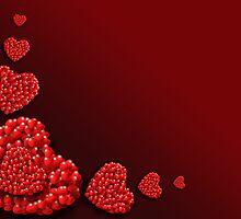 Decoration of Heart shaped Hearts by kirilart