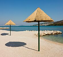 Beautiful Remote Beach near Trogir in Croatia by kirilart