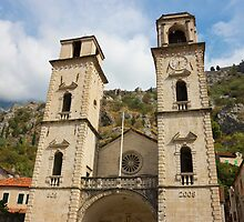 Facade of Cathedral in Kotor by kirilart