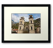 Facade of Cathedral in Kotor Framed Print
