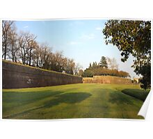 Lucca old city wall Poster