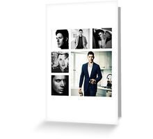 Jensen Ackles in (somewhat) Black and White Greeting Card