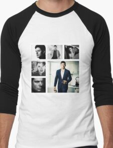Jensen Ackles in (somewhat) Black and White Men's Baseball ¾ T-Shirt