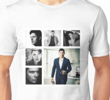 Jensen Ackles in (somewhat) Black and White Unisex T-Shirt