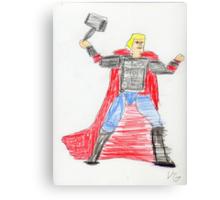 Norse God of Thunder Canvas Print
