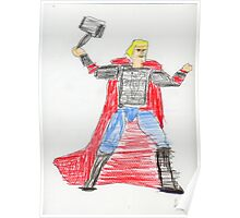 Norse God of Thunder Poster