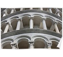 Leaning Tower in Pisa detail Poster