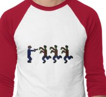 Zombie 16-Bit High Men's Baseball ¾ T-Shirt