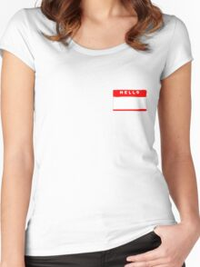 hello my names is tag shirt Women's Fitted Scoop T-Shirt