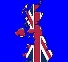 Smartphone Case - Cool Britannia - Blue Background by Mark Podger