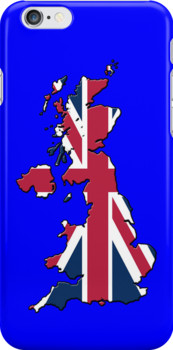 Smartphone Case - Cool Britannia - Blue Background by Mark Podger