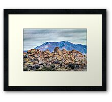 The Boulders of Arizona's Texas Canyon Framed Print