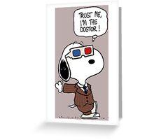 Peanuts Trust Me Im Doctor Greeting Card