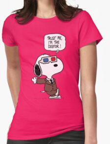 Peanuts Trust Me Im Doctor Womens Fitted T-Shirt