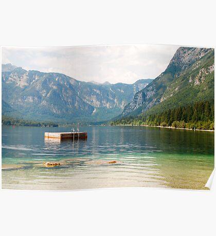 Diving Platform in Lake Bohinj Poster