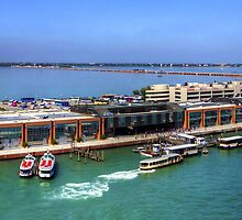 The Busy Port of Venice by Tom Gomez