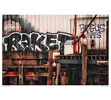 Tagging Waterfront Photographic Print