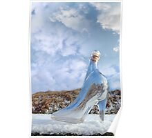 glass slipper on snow covered surface Poster