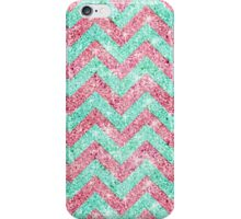 Chevron Pattern, pink & teal glitter photo print  iPhone Case/Skin